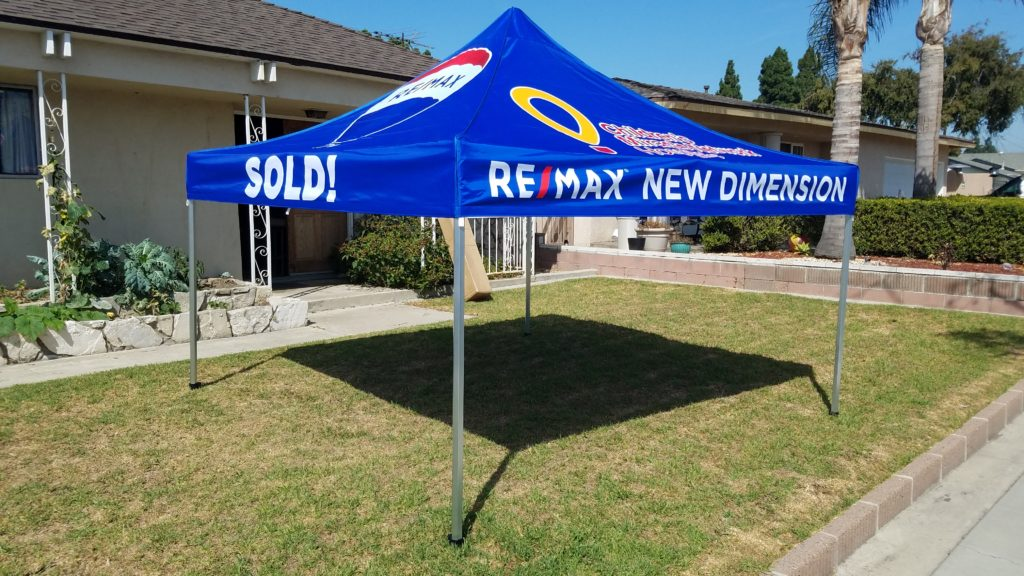 Custom Pop Up Canopy for RE/Max New Dimensions